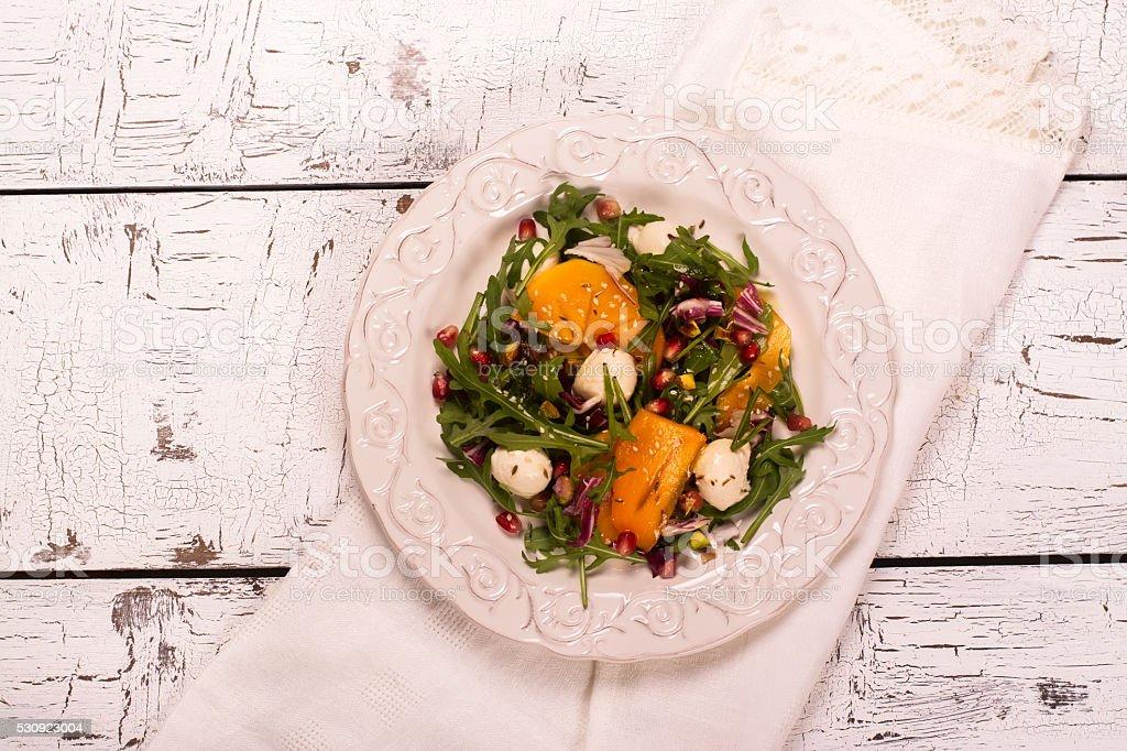 Fresh colorful summer salad stock photo