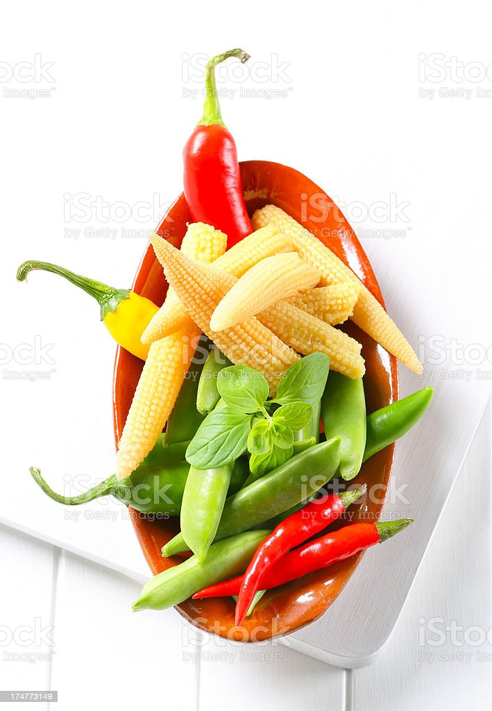 fresh colourful vegetable royalty-free stock photo