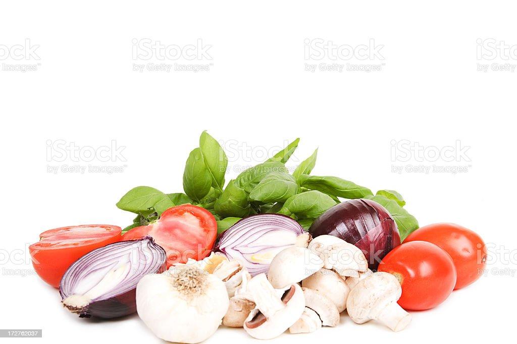 fresh cooking ingredients royalty-free stock photo