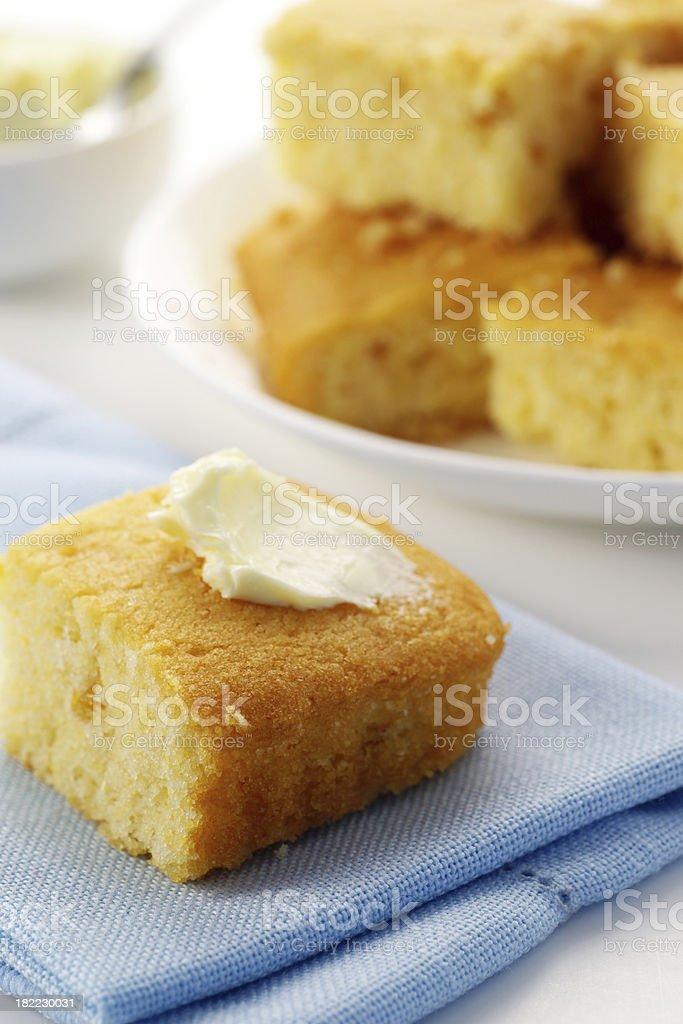 Fresh Cornbread stock photo