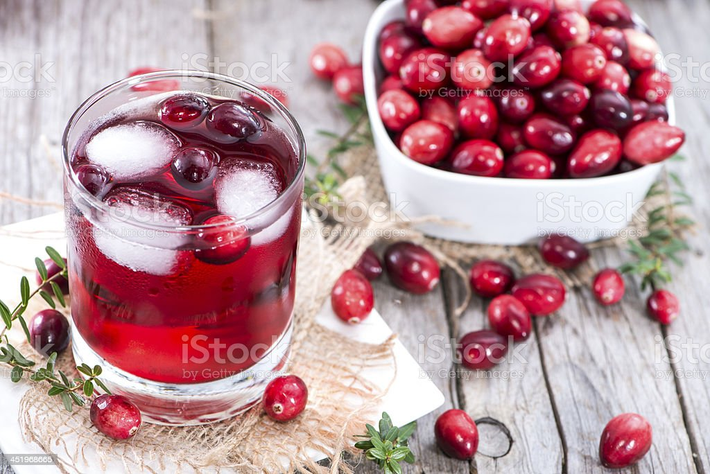 Fresh Cranberry Juice stock photo