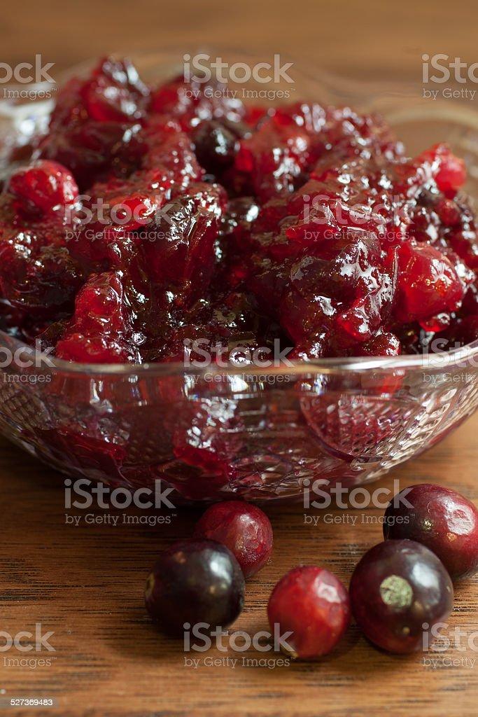 Fresh Cranberry Sauce stock photo