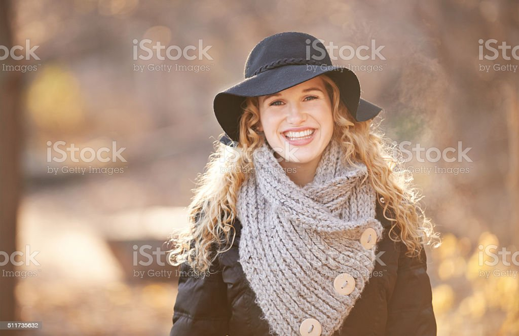 Fresh crisp air is good for the soul! stock photo