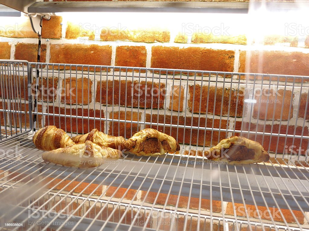 fresh Croissants at a supermarket stock photo