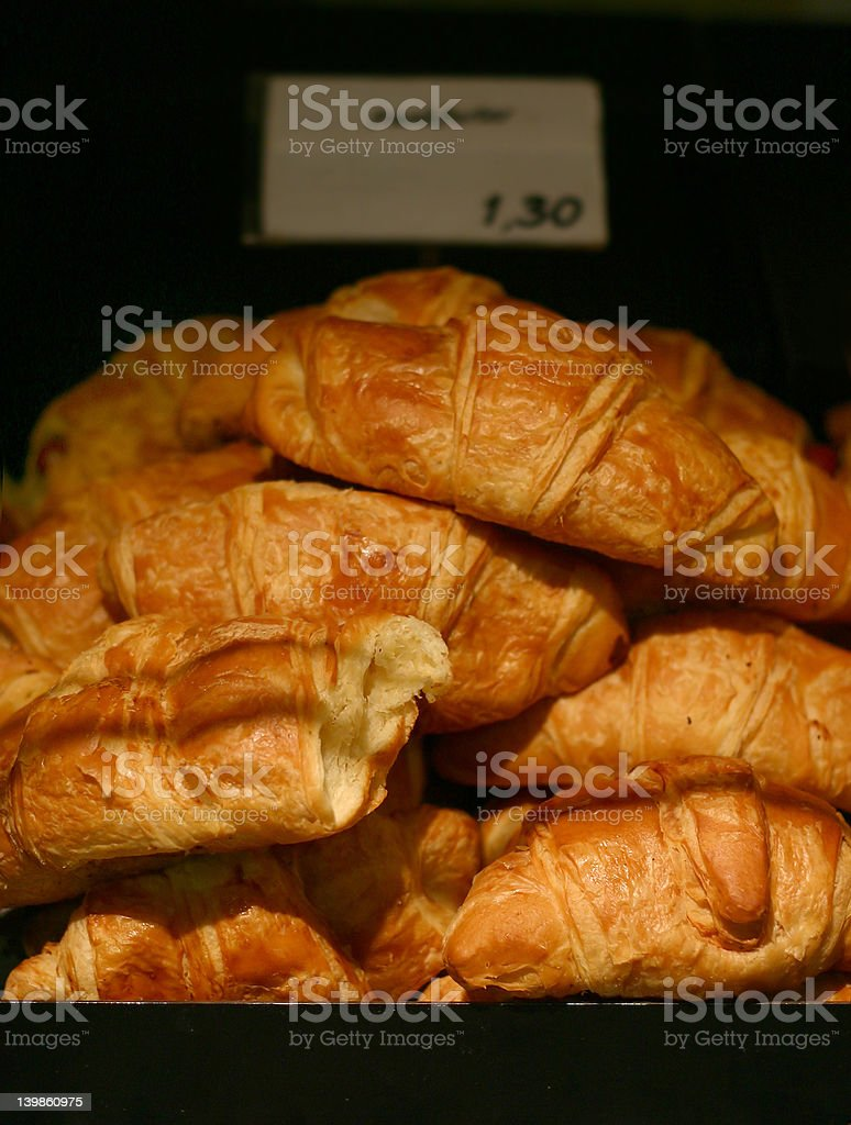 Fresh Croissants royalty-free stock photo