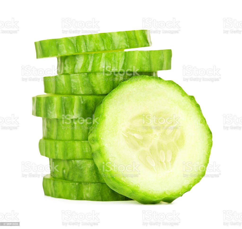 Fresh Cucumber Slices stock photo