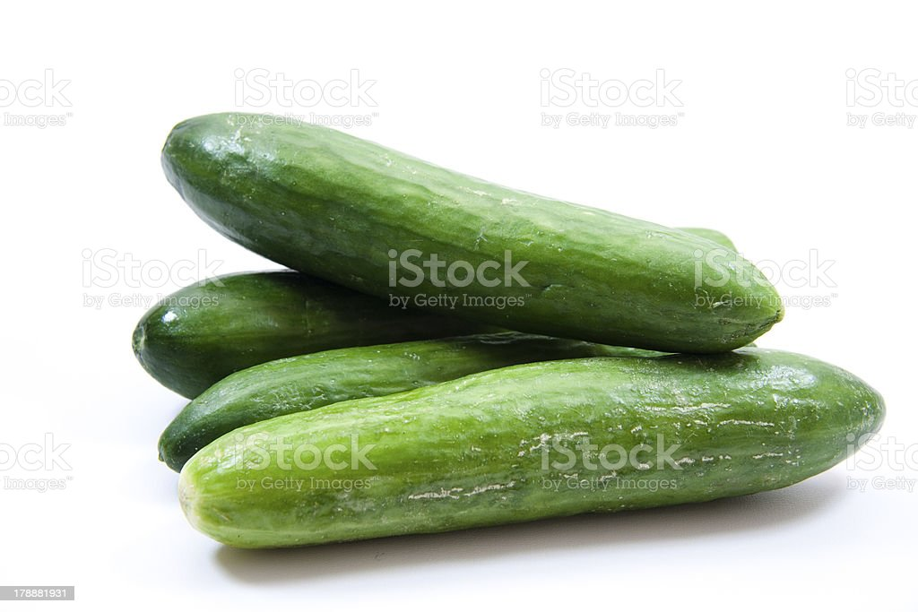 Fresh cucumbers stock photo
