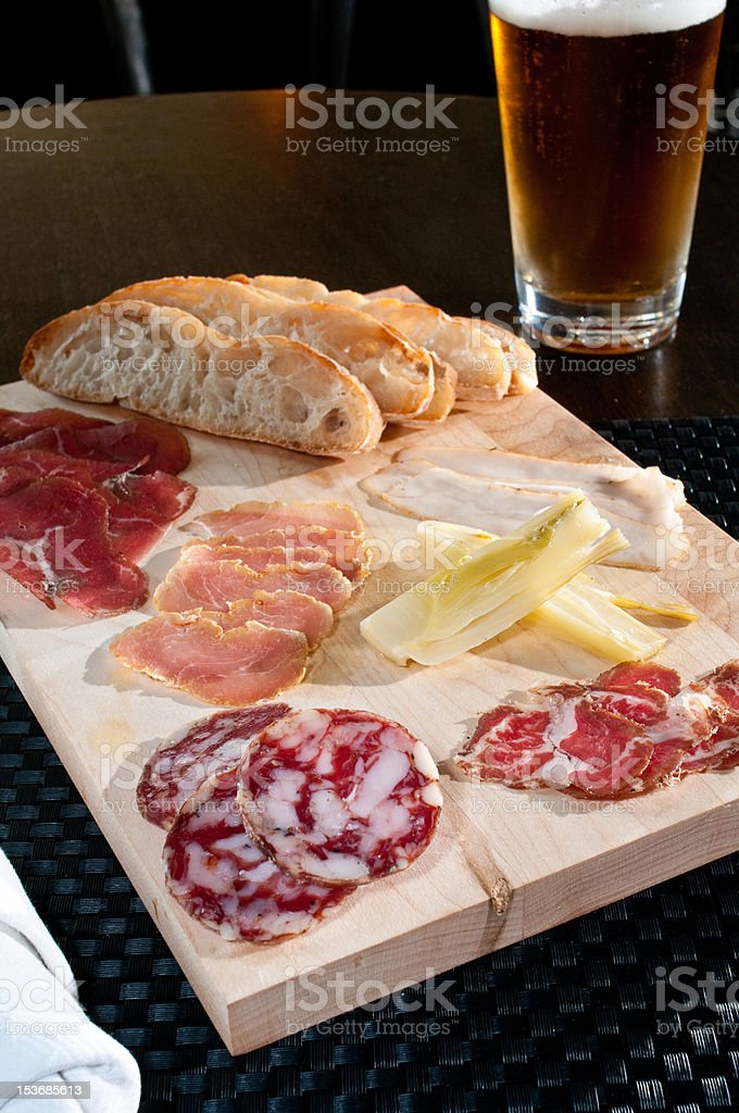 fresh cured meats royalty-free stock photo