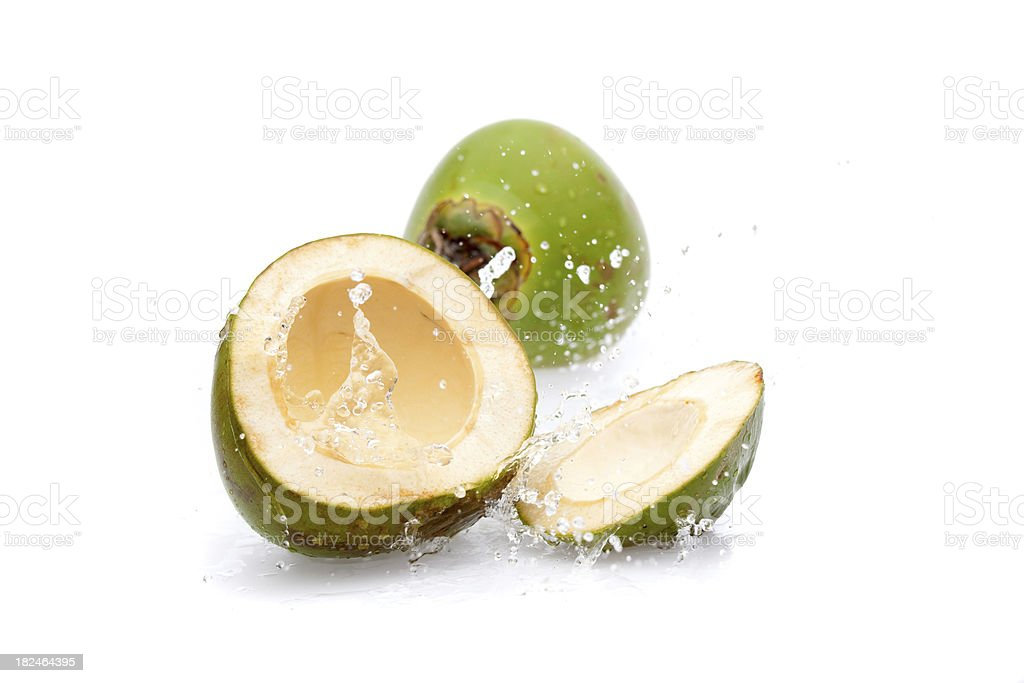 fresh cut green coconut royalty-free stock photo