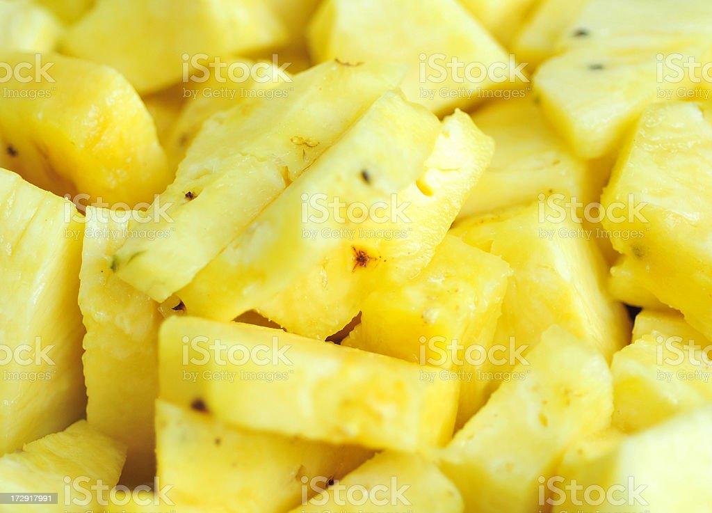 Fresh Cut Pineapple stock photo