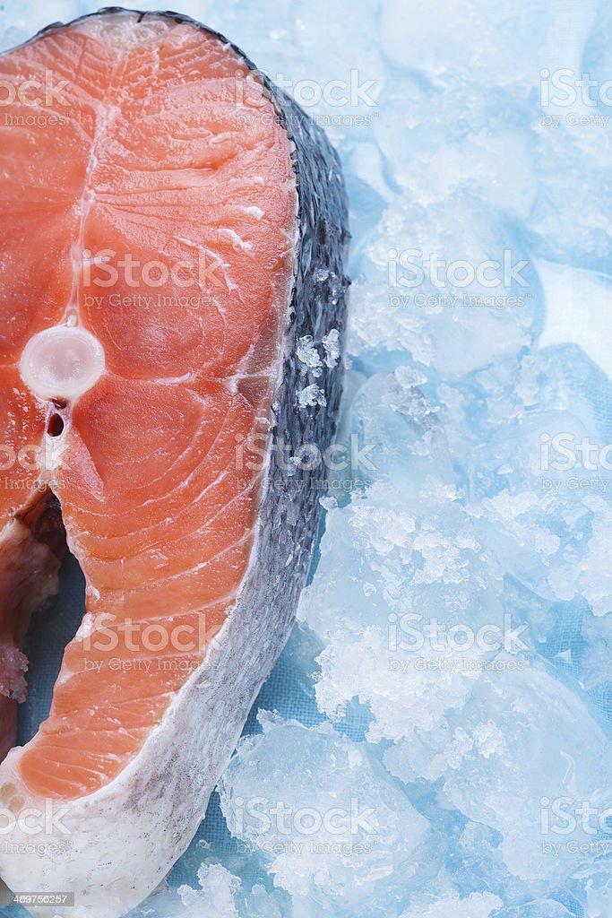 Fresh cut Salmon steaks royalty-free stock photo
