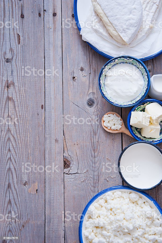 Fresh dairy products stock photo