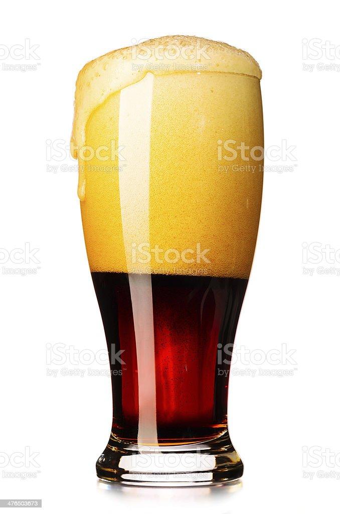 fresh dark beer royalty-free stock photo