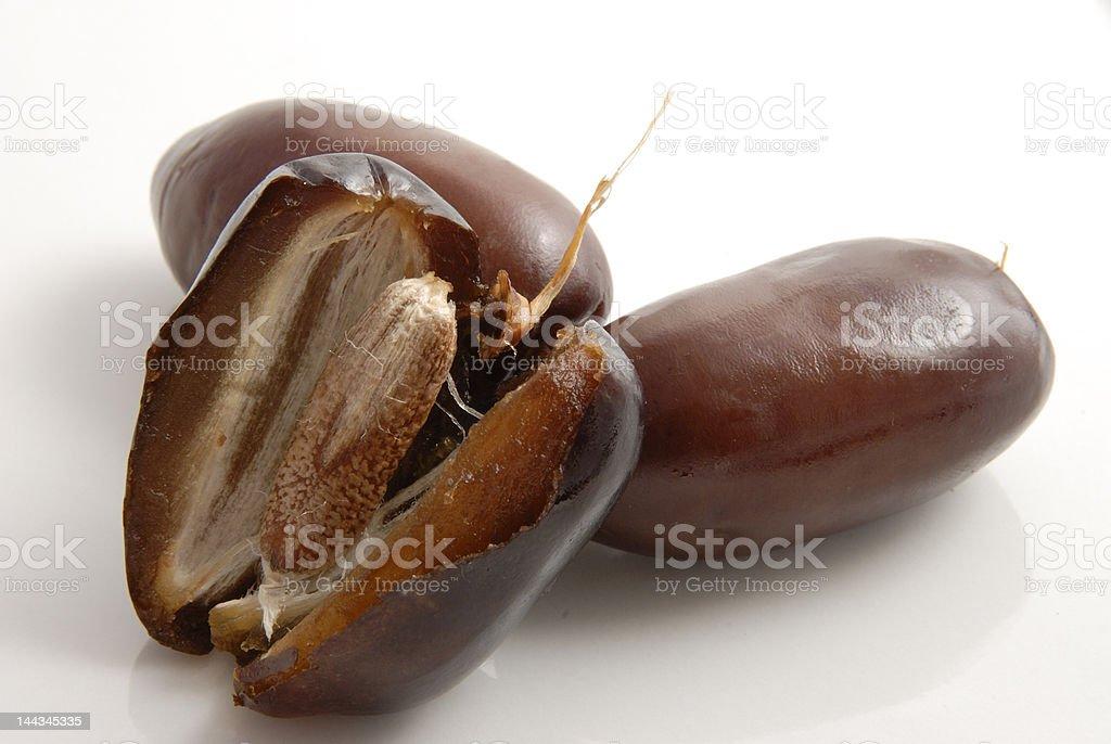 Fresh dates stock photo