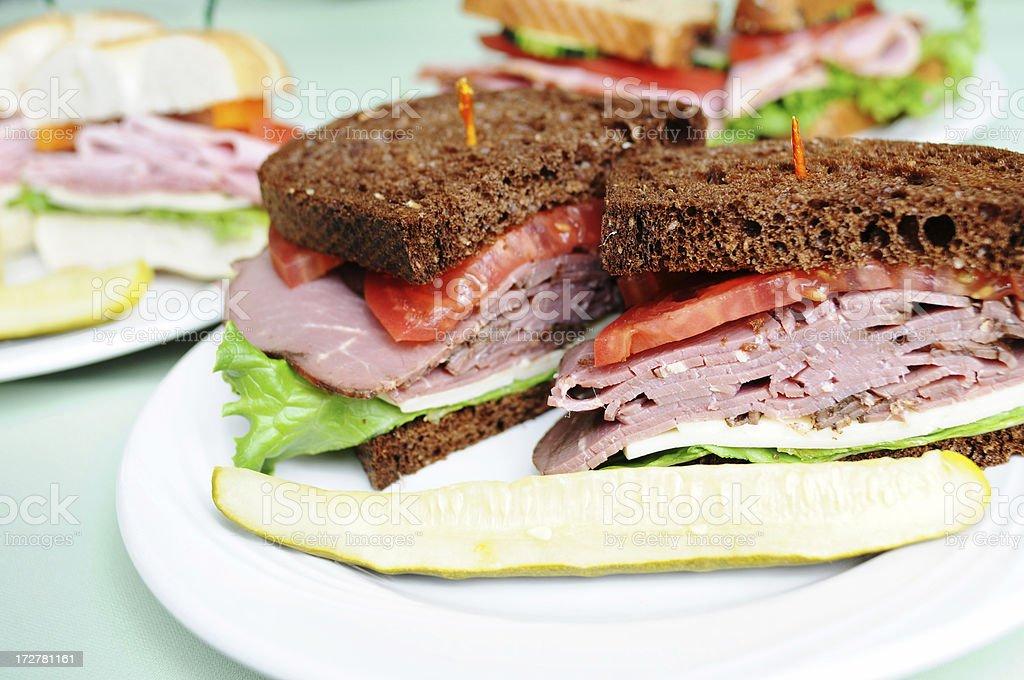 Fresh Deli Sandwiches royalty-free stock photo