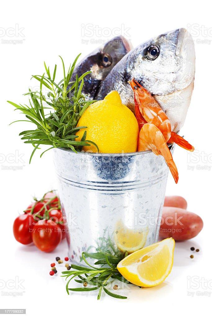 fresh dorada fish royalty-free stock photo