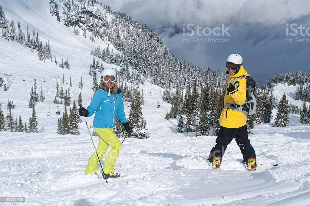 Fresh downhill royalty-free stock photo