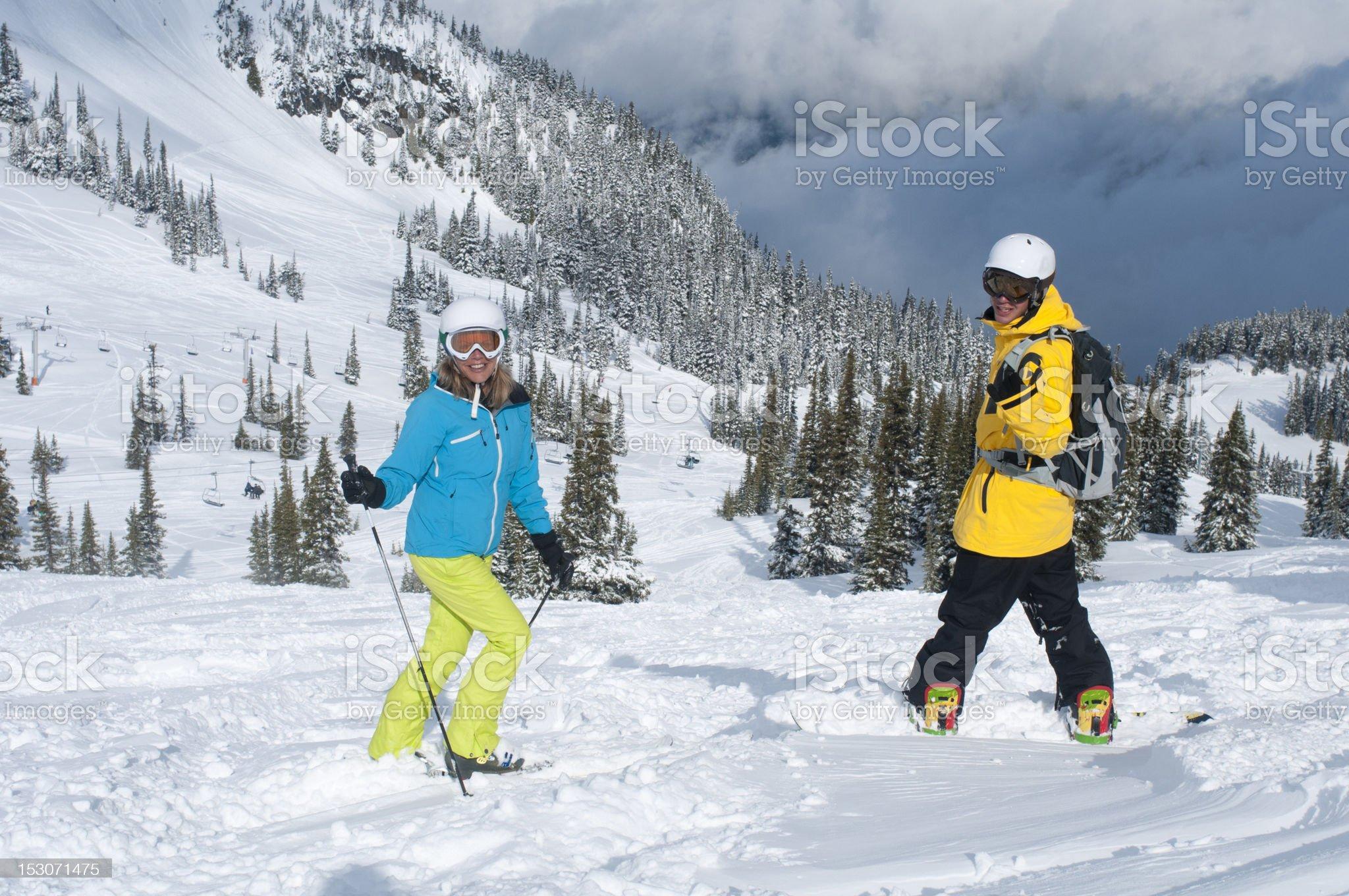 Fresh downhill royalty-free stock photo