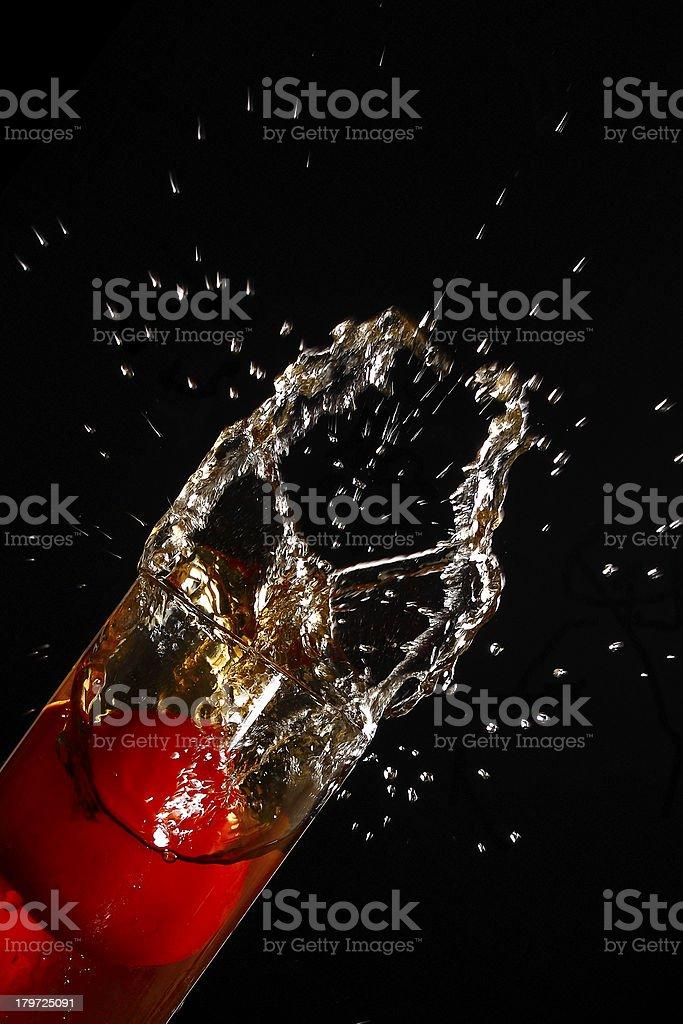 Fresh drink of ice tea splashing royalty-free stock photo