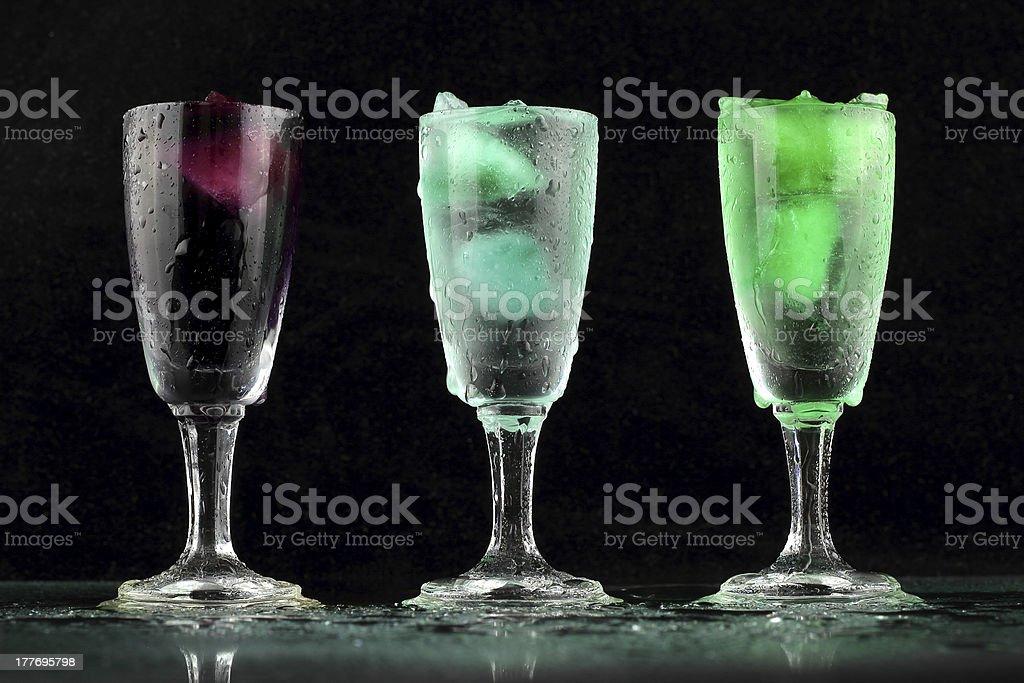 Fresh drink on black background royalty-free stock photo