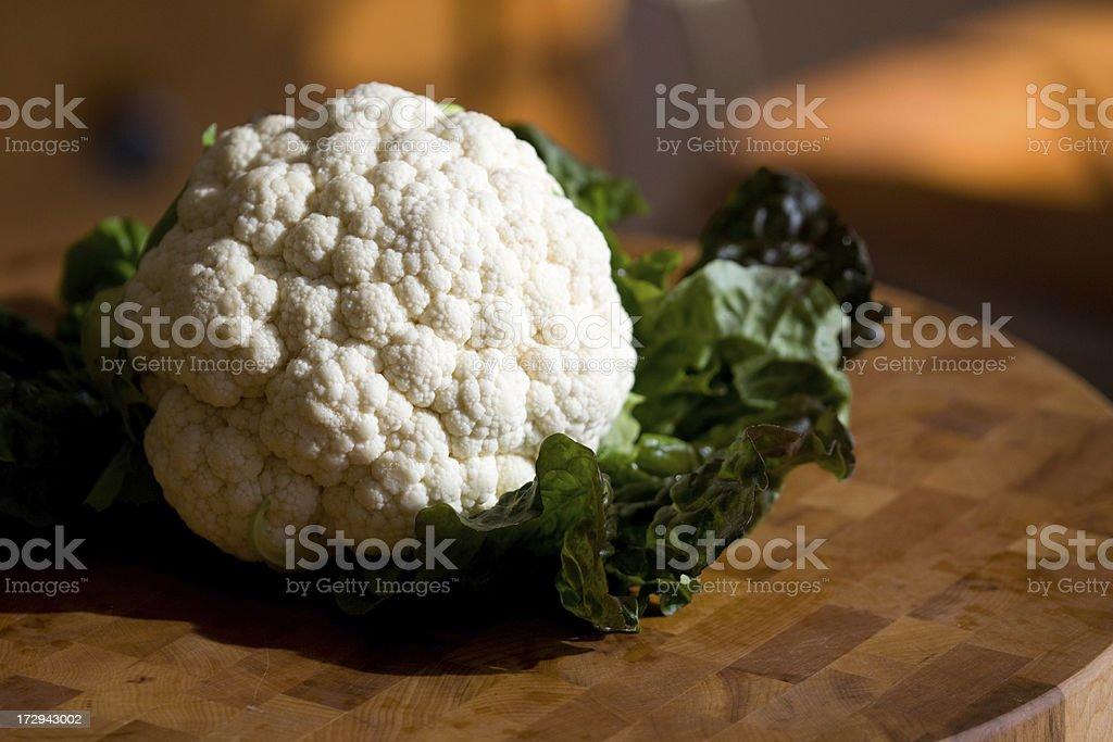 Fresh ear of Cauliflower royalty-free stock photo