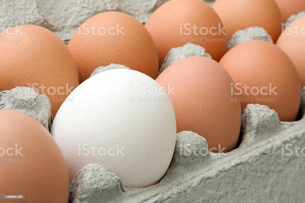 Frische Eier In einer Kartonverpackung Lizenzfreies stock-foto