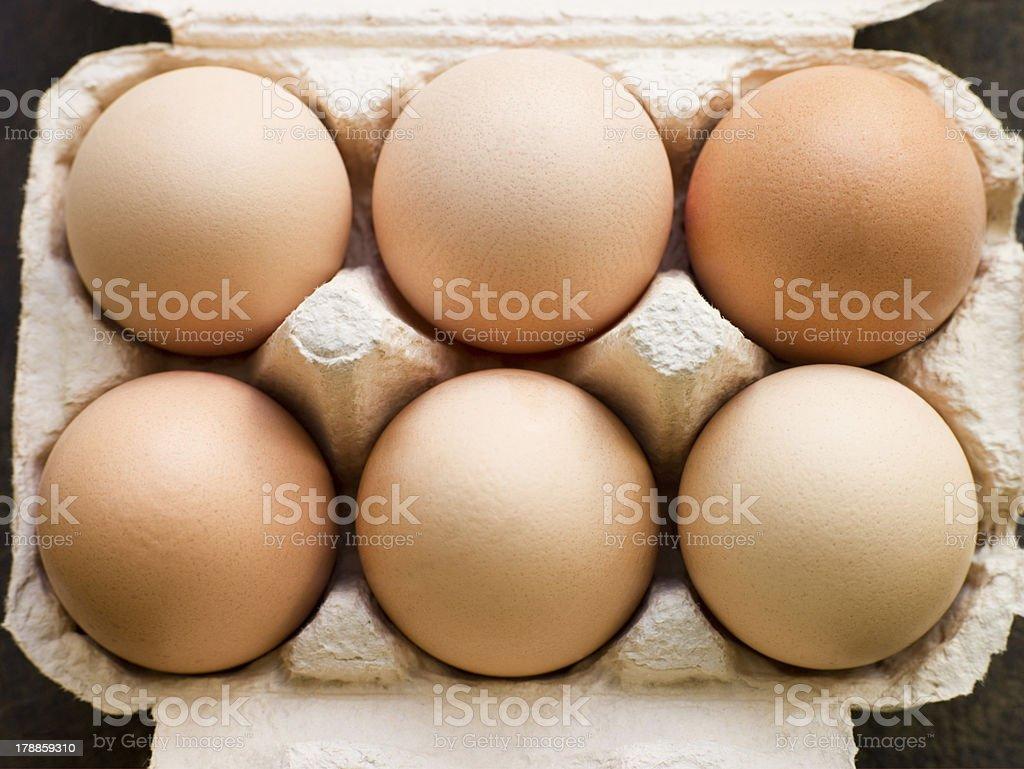 Fresh Eggs In Box royalty-free stock photo