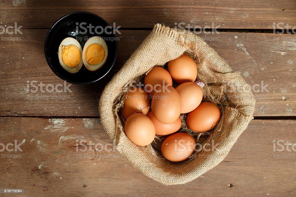 Fresh eggs. stock photo
