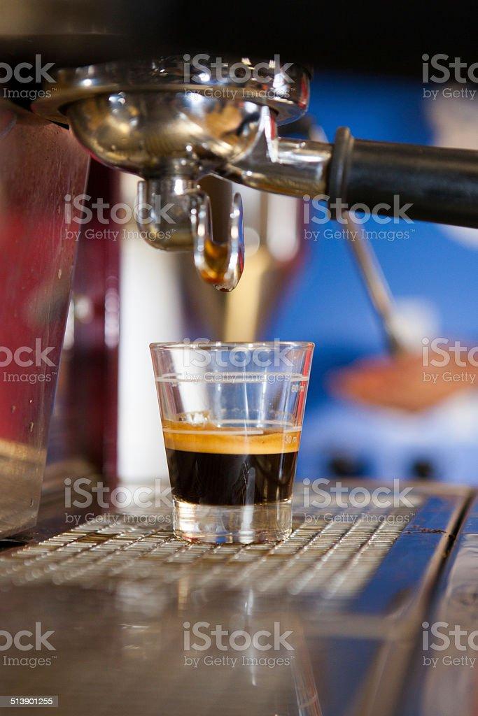 Fresh Espresso in a class cup stock photo