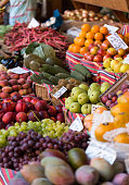 Fresh exotic fruits in Mercado Dos Lavradores. Funchal