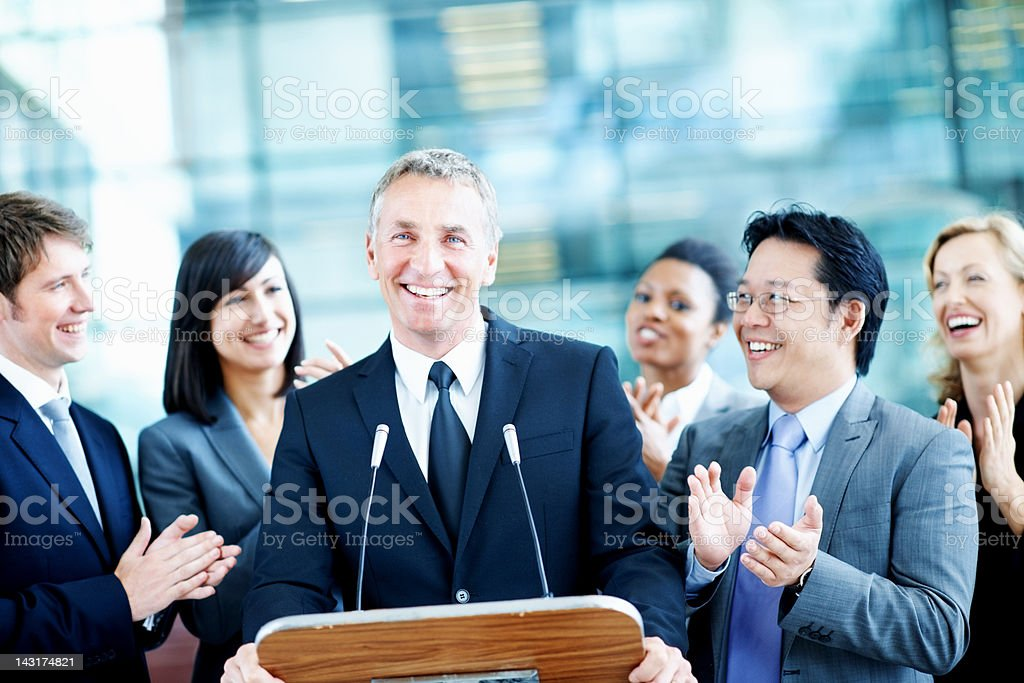 Fresh face for congress royalty-free stock photo