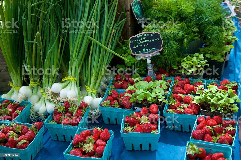 Fresh farmer's market produce stock photo