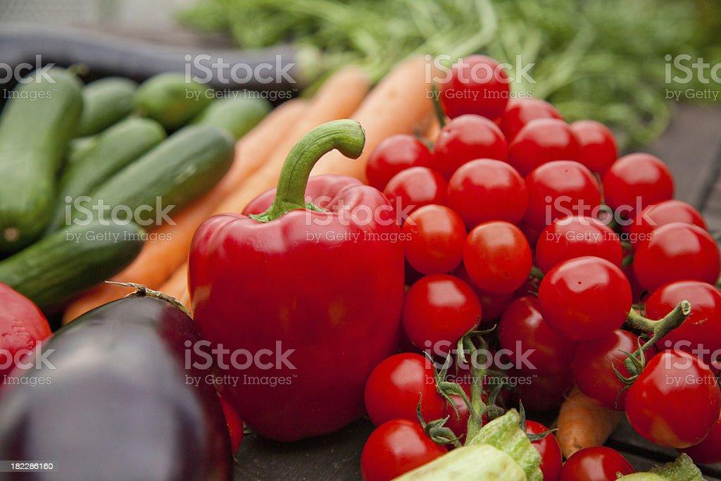 Fresh farmers market vegetable still life royalty-free stock photo