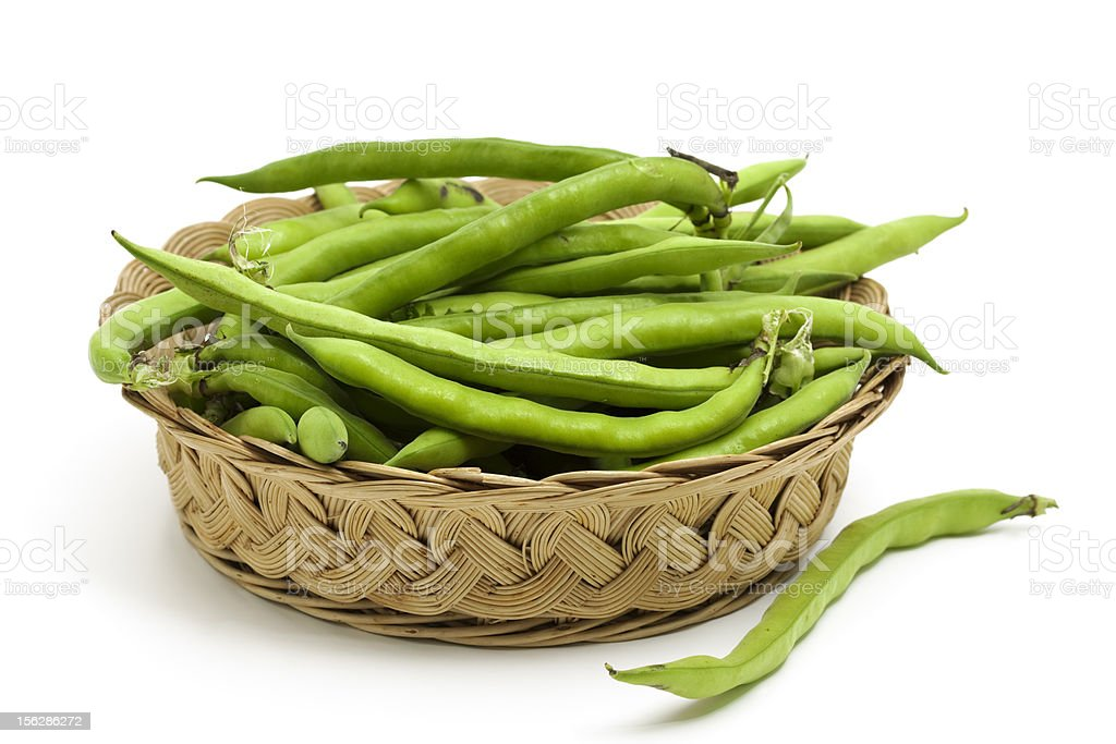 fresh fava beans royalty-free stock photo