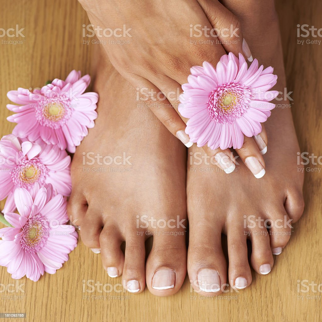 Fresh feet royalty-free stock photo