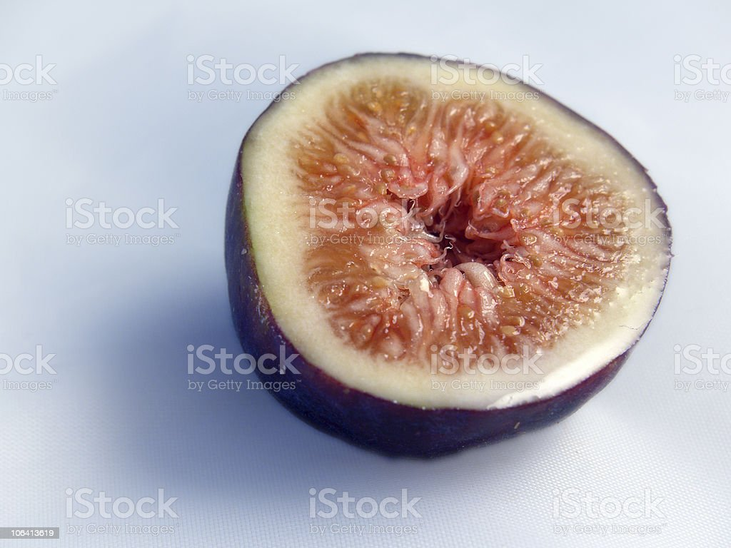 Fresh Fig Half royalty-free stock photo