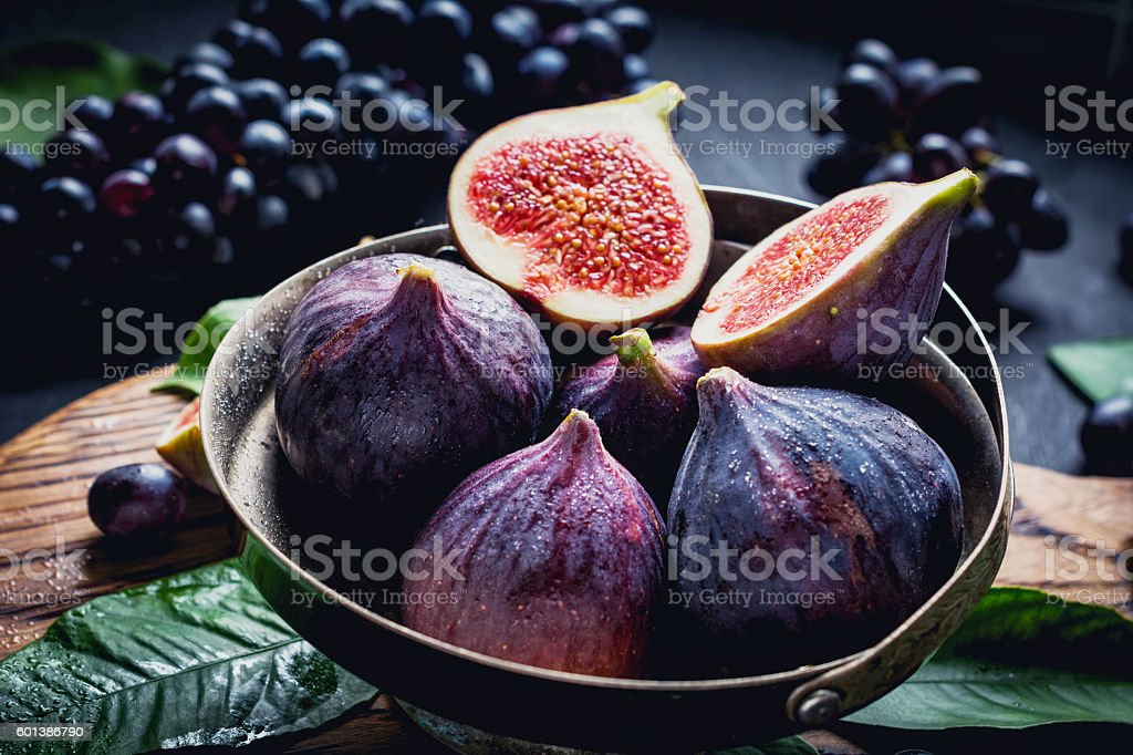 Fresh figs, close up stock photo