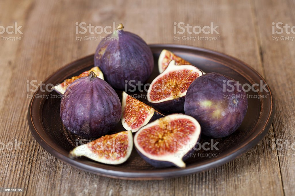 fresh figs in a plate royalty-free stock photo