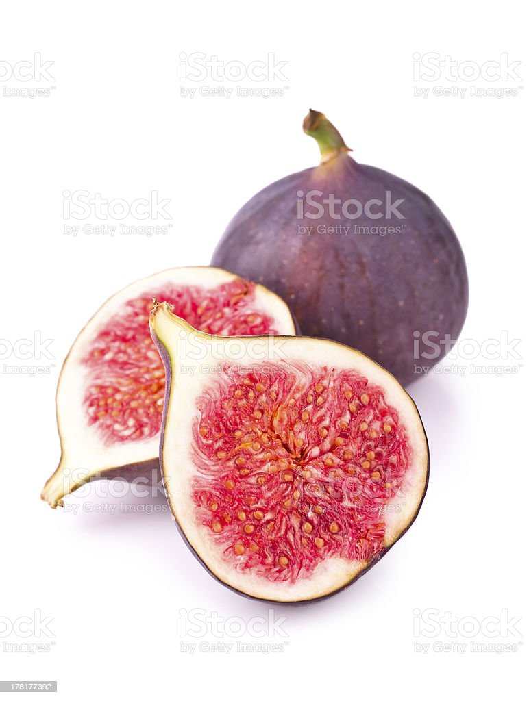 Fresh figs isolated royalty-free stock photo