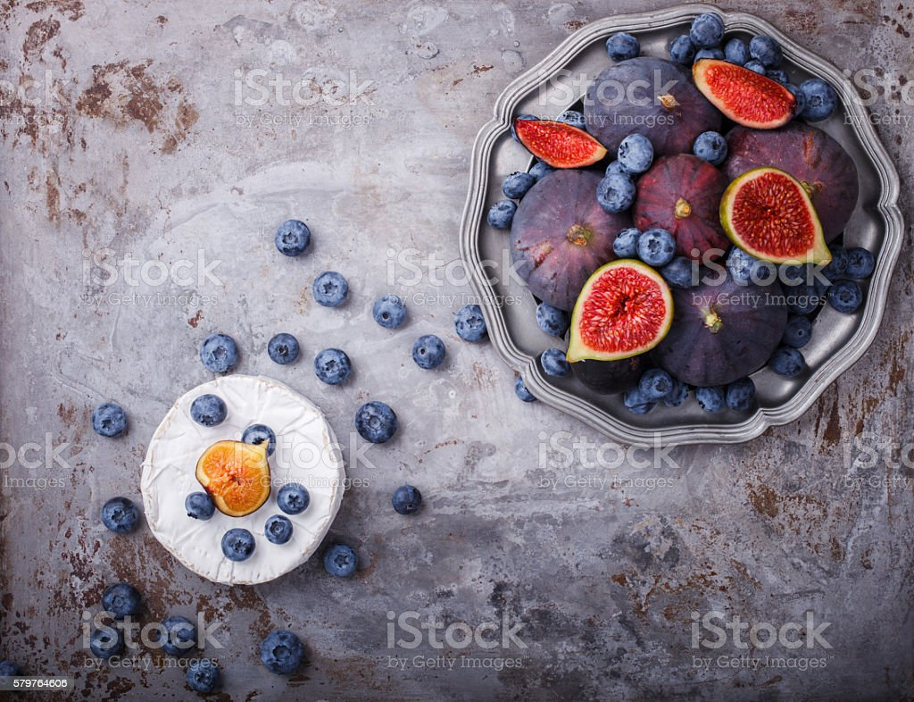 Fresh figs of different varieties stock photo