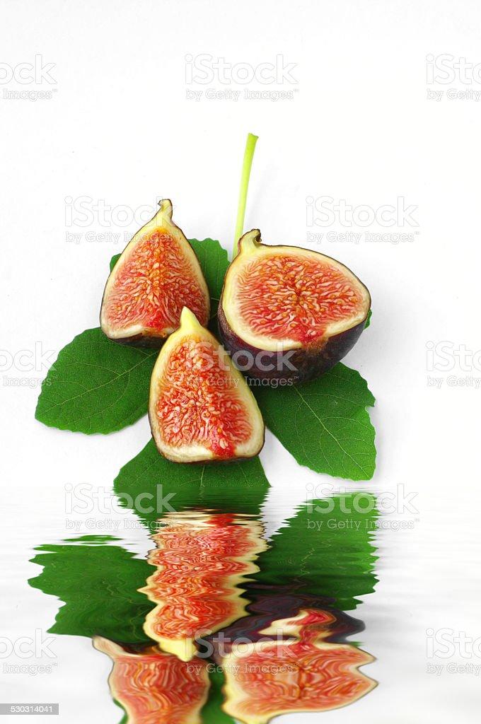 Fresh figs on white background stock photo