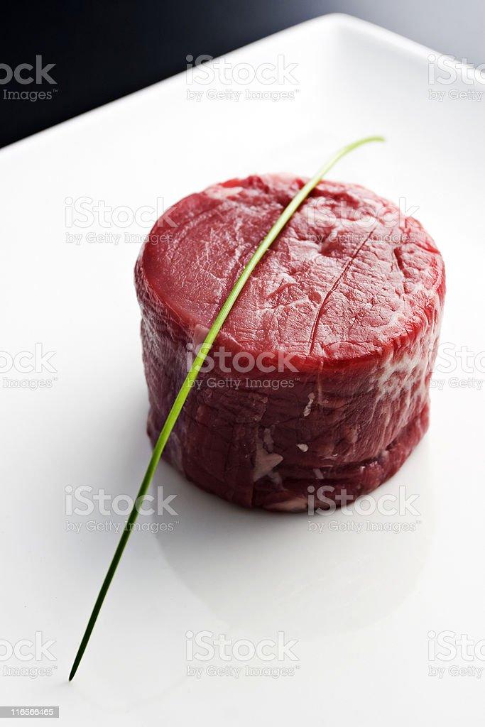 Fresh filet mignon royalty-free stock photo