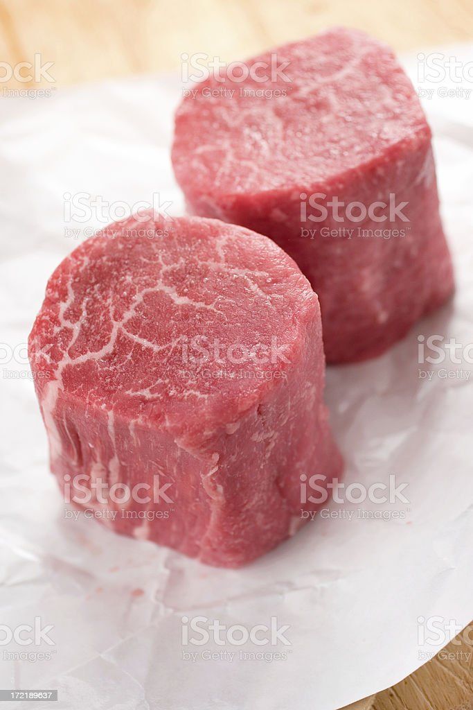 Fresh Filet Mignon stock photo