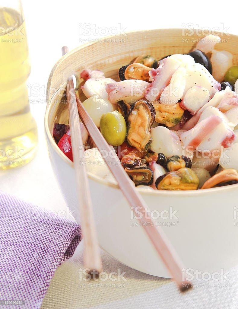 Fresh fish dinner royalty-free stock photo