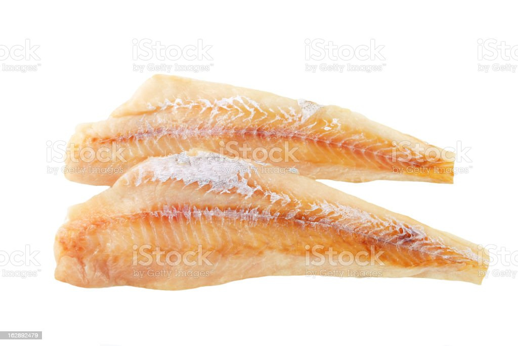 2 fresh fish fillet sat on top of each other royalty-free stock photo