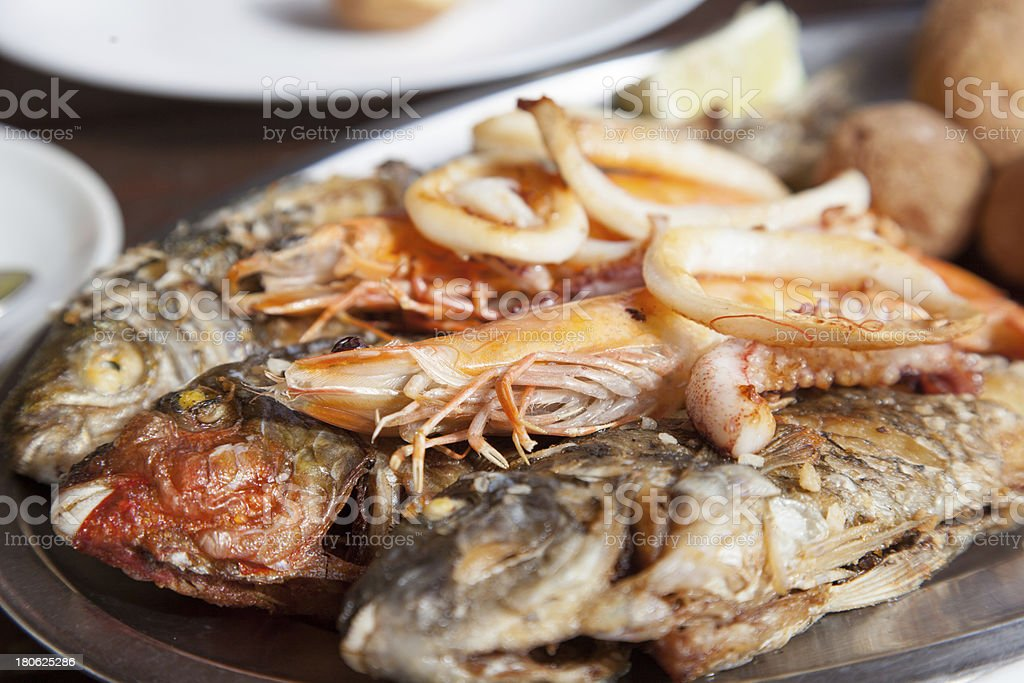 Fresh fish grilled royalty-free stock photo