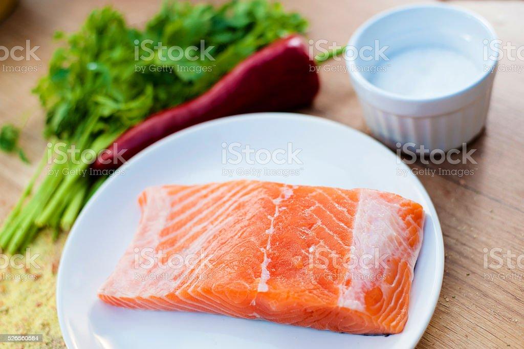 fresh fish meat stock photo
