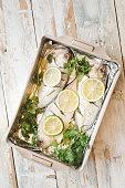 Fresh fish with lemon and Herbs recipe