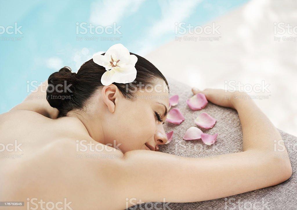 Fresh floral treatment royalty-free stock photo