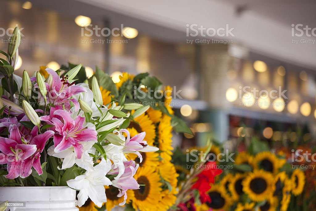 Fresh Flowers at a Farmers Market, Seattle royalty-free stock photo